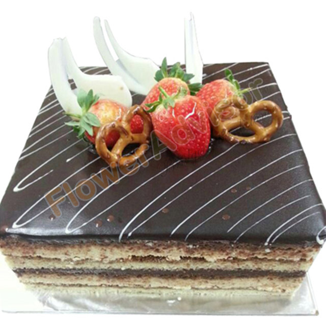 Opera Cake with Free Rose Bouquet - Birthday