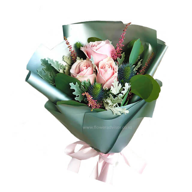 Pink Beryl - Hand Bouquets