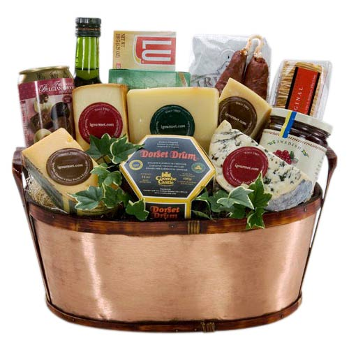 Huge Gourmet Cheese Basket - Christmas