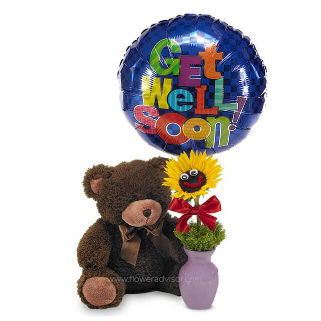 Cuddle Up & Get Well Bear - Get Well Soon