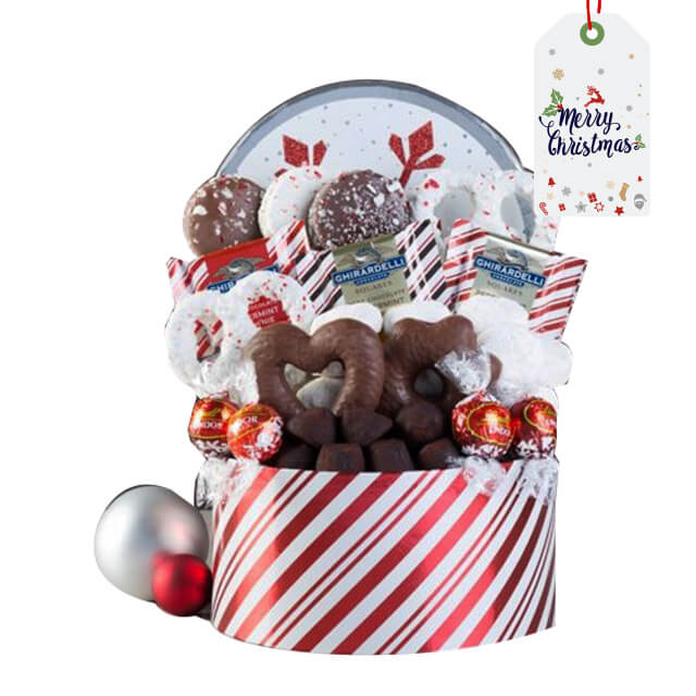 Xmas - Holiday Cookie and Chocolate Basket - Christmas