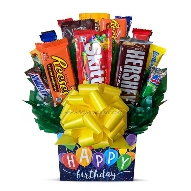 Happy Birthday Candy Bouquet - Exotic Chocolates