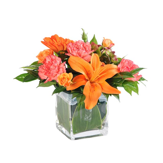D'Orange et Rose - Table Flowers