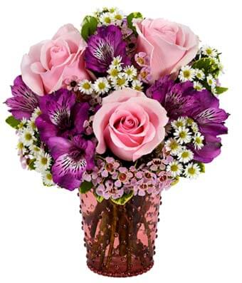 Pink Rose Hobnob Bouquet - Womens Day