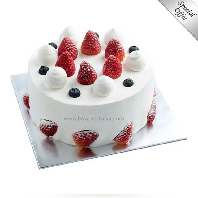 Strawberry Shortcake (1kg) - Birthday