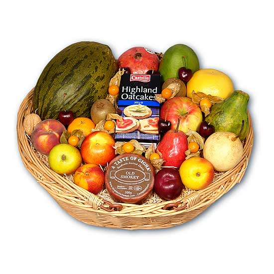 Fruit Basket with Cheese & Oatcakes