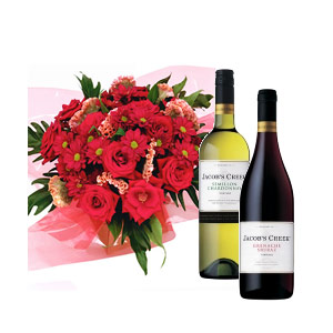 Red Romance with Red & White wine