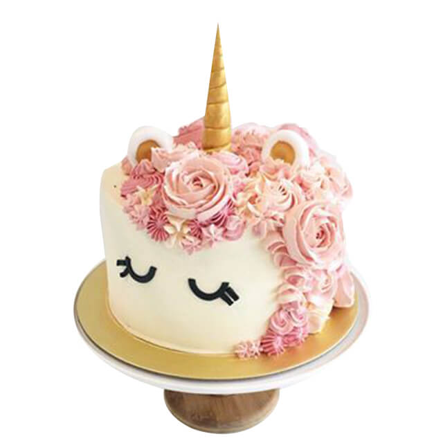 Floral Unicorn Cake (1.4kg) - Customized Cakes