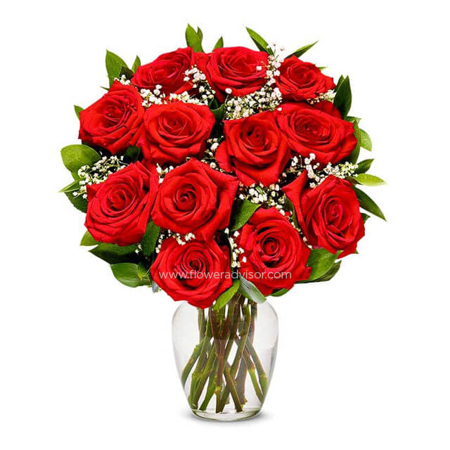 A Dozen Long Stemmed Red Roses - Romance